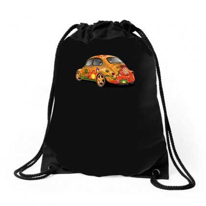Sixties Vw Beetle, Ideal Gift Or Birthday Present Drawstring Bags Designed By H4syim