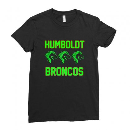 Humboldt Broncos Ladies Fitted T-shirt Designed By Anrora