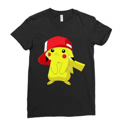 Pikachu Deadpool Ladies Fitted T-shirt Designed By Anrora