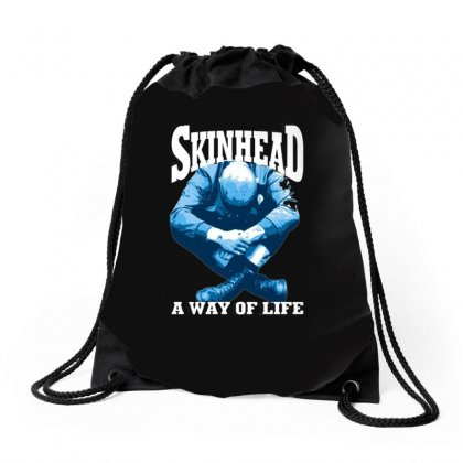 Skinhead A Way Of Life Blue Ideal Birthday Gift Present. Drawstring Bags Designed By H4syim