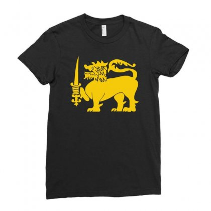 Sri Lanka International  National Country Lion Sport Flag Ladies Fitted T-shirt Designed By H4syim
