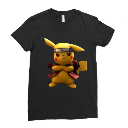 Pikachu Deadpool Ladies Fitted T-shirt Designed By Vanitty