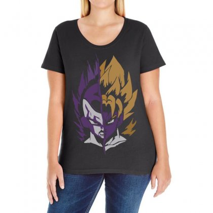 The Emperor And The Legend Ladies Curvy T-shirt Designed By H4syim