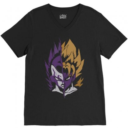 The Emperor And The Legend V-neck Tee Designed By H4syim