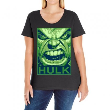 The Hulk Poster, Ideal Gift Or Birthday Present. Ladies Curvy T-shirt Designed By H4syim