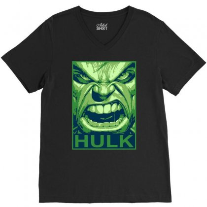The Hulk Poster, Ideal Gift Or Birthday Present. V-neck Tee Designed By H4syim