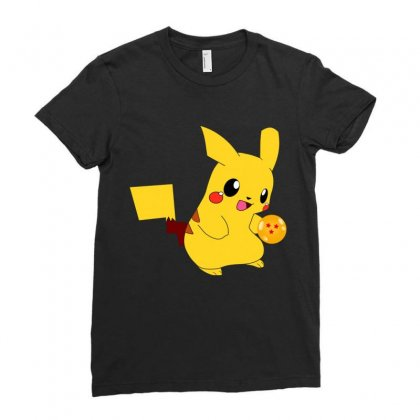 Pikachu Deadpool 2 Ladies Fitted T-shirt Designed By Vanitty