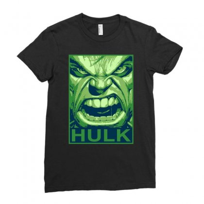 The Hulk Poster, Ideal Gift Or Birthday Present. Ladies Fitted T-shirt Designed By H4syim