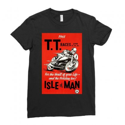 Vintage Tt Race Poster, Ideal Gift Or Birthday Present Ladies Fitted T-shirt Designed By H4syim