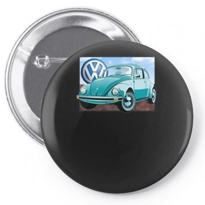 Vw Beetle Sky, Ideal Birthday Gift Or Present Pin-back Button Designed By H4syim