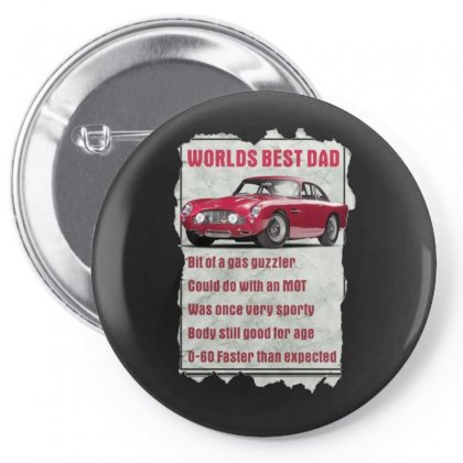 Worlds Best Dad Aston Martin, Funny Birthday Present Gift Pin-back Button Designed By H4syim