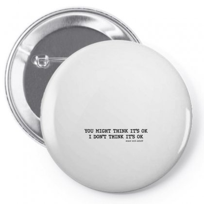 You Might Think It's Ok Stand With Schiff Pin-back Button Designed By Nurbetulk
