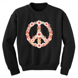 floral peace Youth Sweatshirt | Artistshot