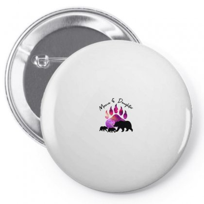 Mama And Daughter Bear Pin-back Button Designed By Nurbetulk