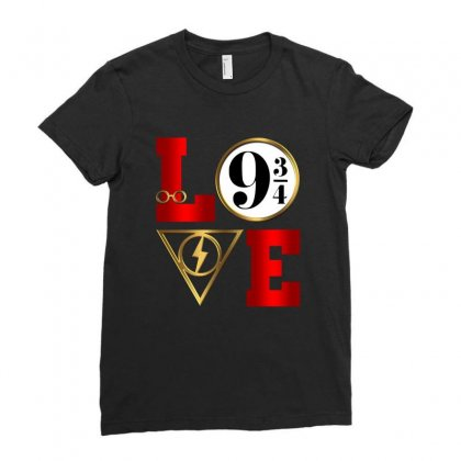 Love Harry Potter Ladies Fitted T-shirt Designed By Nurbetulk