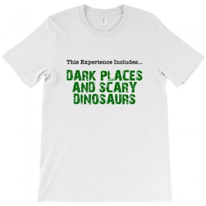Dark Places And Scary Dinosaurs T-shirt Designed By Nurbetulk