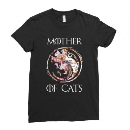 Mother Of Cats Ladies Fitted T-shirt Designed By Sengul