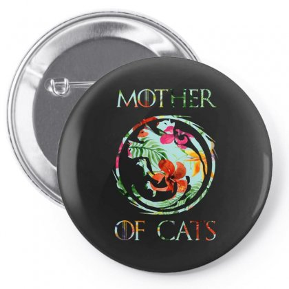 Mother Of Cats Floral Pin-back Button Designed By Sengul