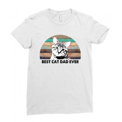 Best Cat Dad Ever For Light Ladies Fitted T-shirt Designed By Sengul