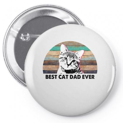 Best Cat Dad Ever For Light Pin-back Button Designed By Sengul