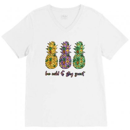 Be Wild And Stay Sweet V-neck Tee Designed By Nurbetulk