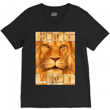 King Lion V-neck Tee Designed By Tapan