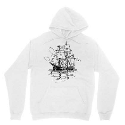 Vectors Ship Transportation Sailing Unisex Hoodie Designed By Salmanaz