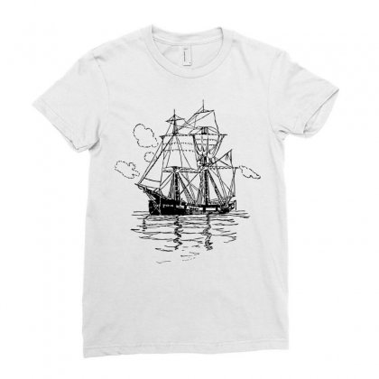 Vectors Ship Transportation Sailing Ladies Fitted T-shirt Designed By Salmanaz