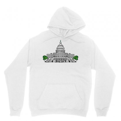 Capitol Washington Political Unisex Hoodie Designed By Salmanaz