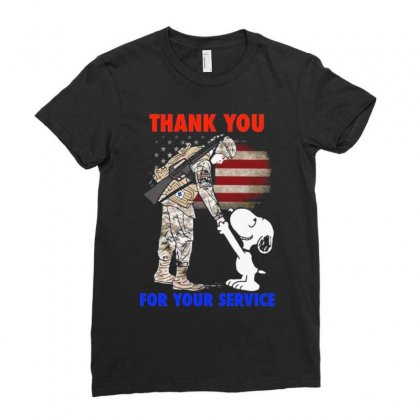 Thank You For Your Service Ladies Fitted T-shirt Designed By Vanitty