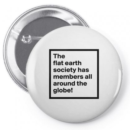 Flat Earth Merchandise Pin-back Button Designed By Willo