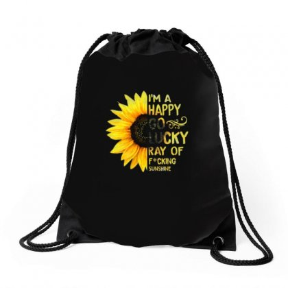 I'm A Happy Go Lucky Ray Of Focking Sunshine Drawstring Bags Designed By Vanitty