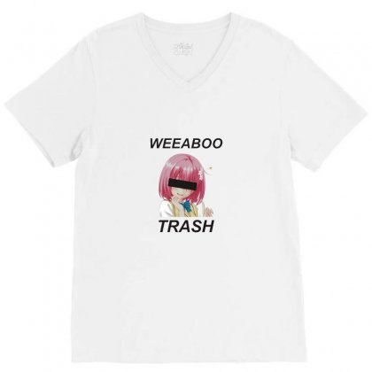 Weeaboo Trash V-neck Tee Designed By Willo