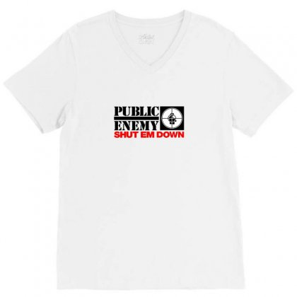 Public Enemy V-neck Tee Designed By Willo