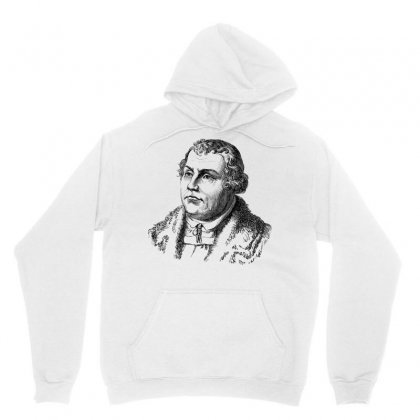 Martin Luther Portrait Line Art Unisex Hoodie Designed By Salmanaz