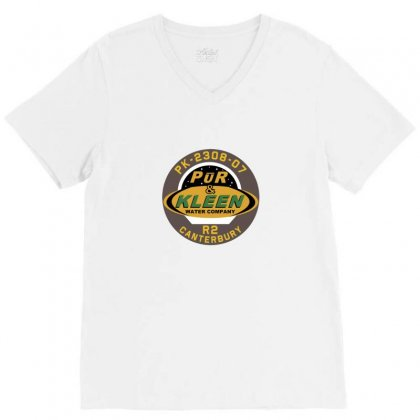 Pur & Kleen Water Company V-neck Tee Designed By Willo