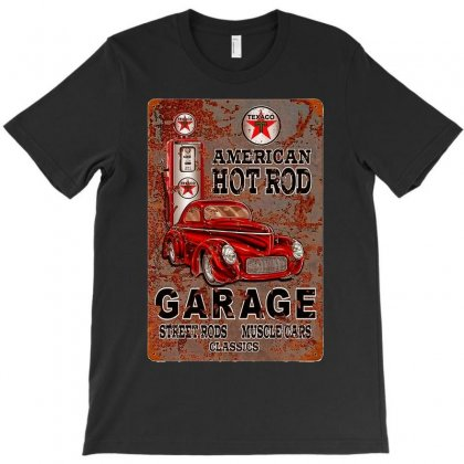 American Hot Rod Garage Sign, Ideal Gift Or Birthday Present. T-shirt Designed By Acen9
