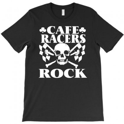 Biker T Shirt Cafe Racers Ton Up Boys Rockers Greasers Rock & Roll T-shirt Designed By Acen9