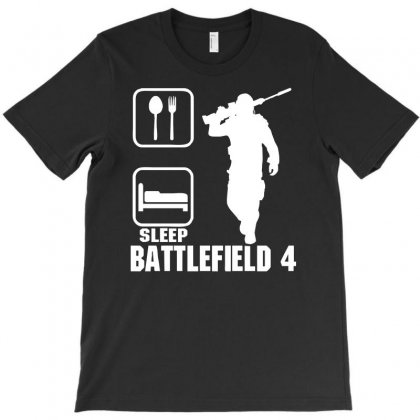 Eat Sleep Battlefield 4, Funny T-shirt Designed By Acen9