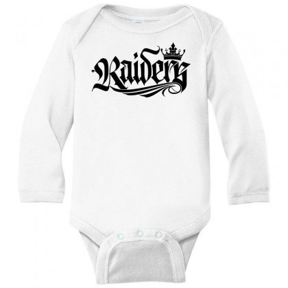 Raiders One Long Sleeve Baby Bodysuit Designed By Tiococacola