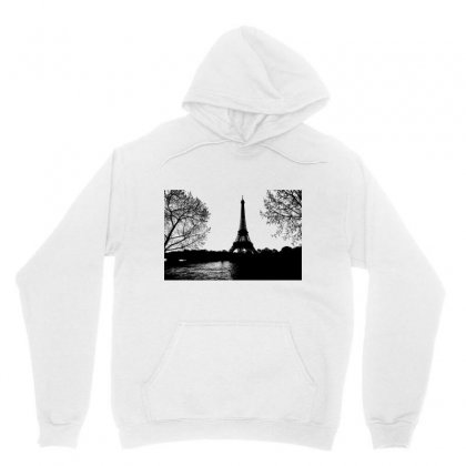 Paris Eiffel Tower Landscape Trees Unisex Hoodie Designed By Salmanaz