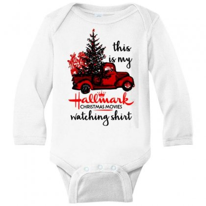 This Is My Hallmark Christmas Movies Watching Long Sleeve Baby Bodysuit Designed By Vanitty