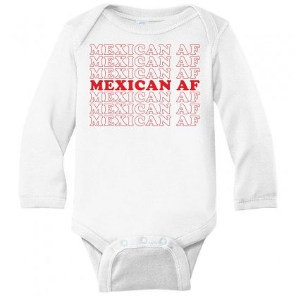 Mexican Af Long Sleeve Baby Bodysuit Designed By Toweroflandrose