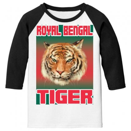 Royal Bengal Tiger Youth 3/4 Sleeve Designed By Tapan