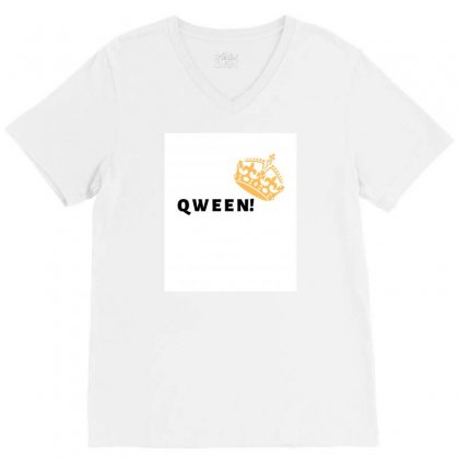 Qween V-neck Tee Designed By Theharshit