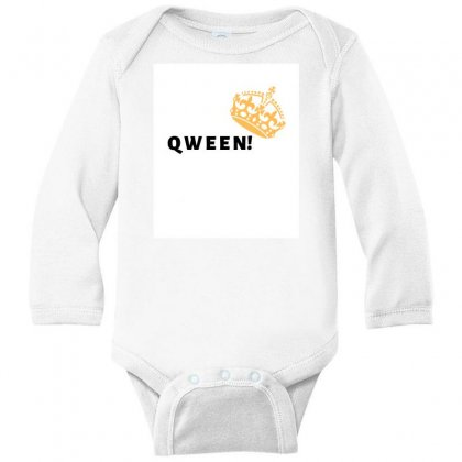 Qween Long Sleeve Baby Bodysuit Designed By Theharshit