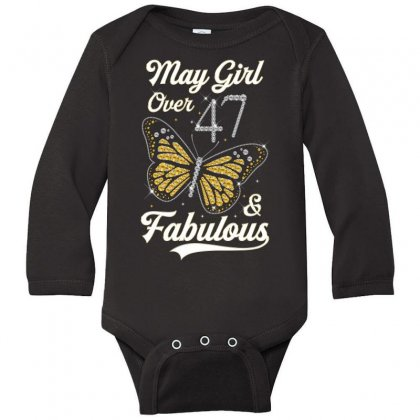 May Girl Over 47 And Fabulous Long Sleeve Baby Bodysuit Designed By Artees Artwork