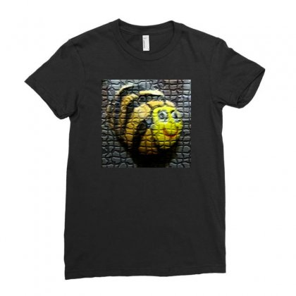 Honey Bee Ladies Fitted T-shirt Designed By Satnamcreationsart