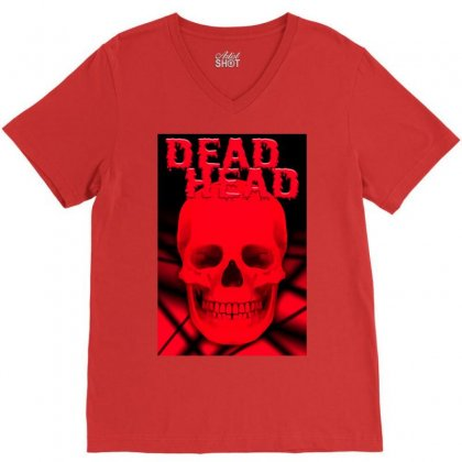 Dead Head V-neck Tee Designed By Tapan