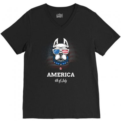 Independence Day 4th Of July T Shirt V-neck Tee Designed By Hung